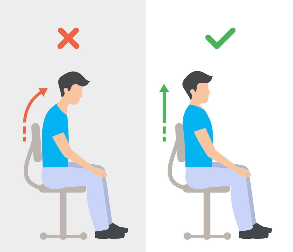 Tipps für richtiges Sitzen